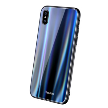 Чохол-накладка Baseus Laser Luster Glass Case для Apple iPhone X / XS