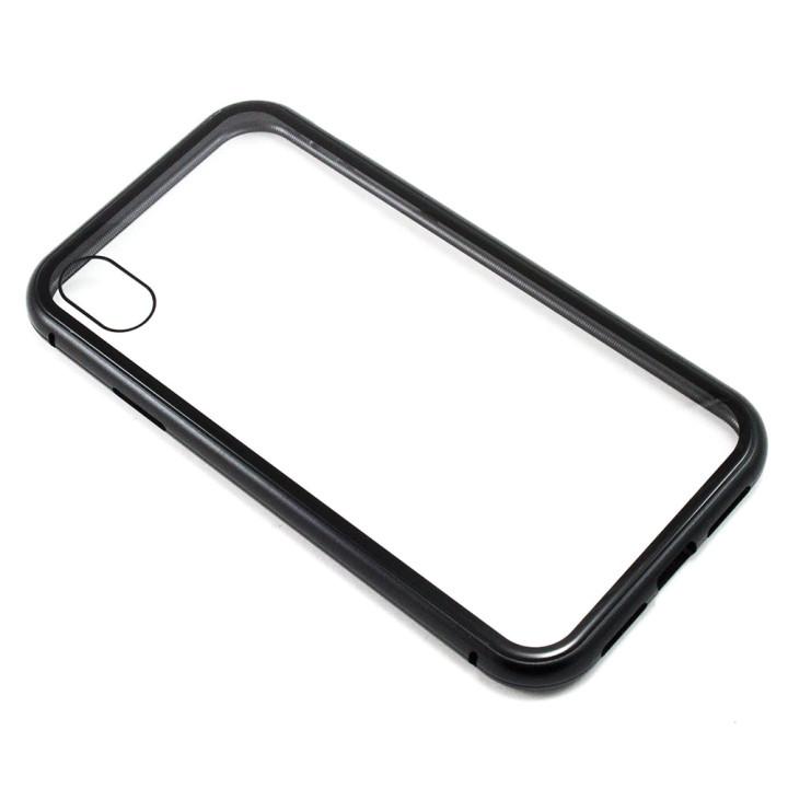 Накладка бампер магнит Bakeey Metal Frame для Apple Iphone XR, Black