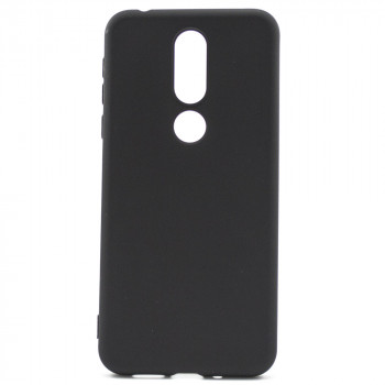 Матовый чехол накладка Silicone Matted для Nokia 7.1, Black