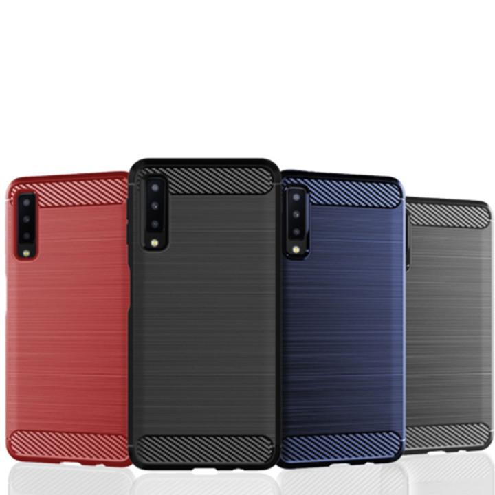 Чехол накладка Carbon для Samsung Galaxy A7 2018