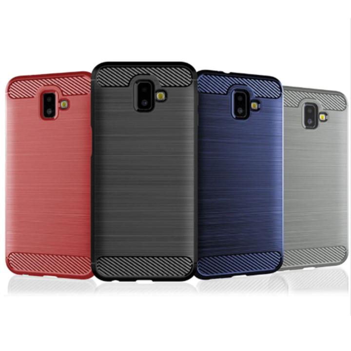 Чехол накладка Carbon для Samsung Galaxy J6 Plus