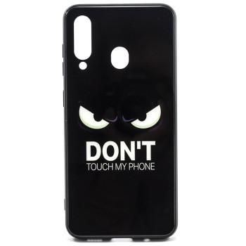 Чехол Glass Case Don't touch my pfone для для Samsung Galaxy M40 / A60