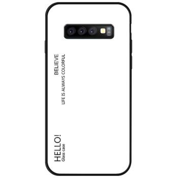 Чехол-накладка Gradient HELLO для Samsung Galaxy S10