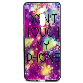 Чехол Glass Case Don't touch my pfone для для Xiaomi Mi 9t, K20, K20 Pro