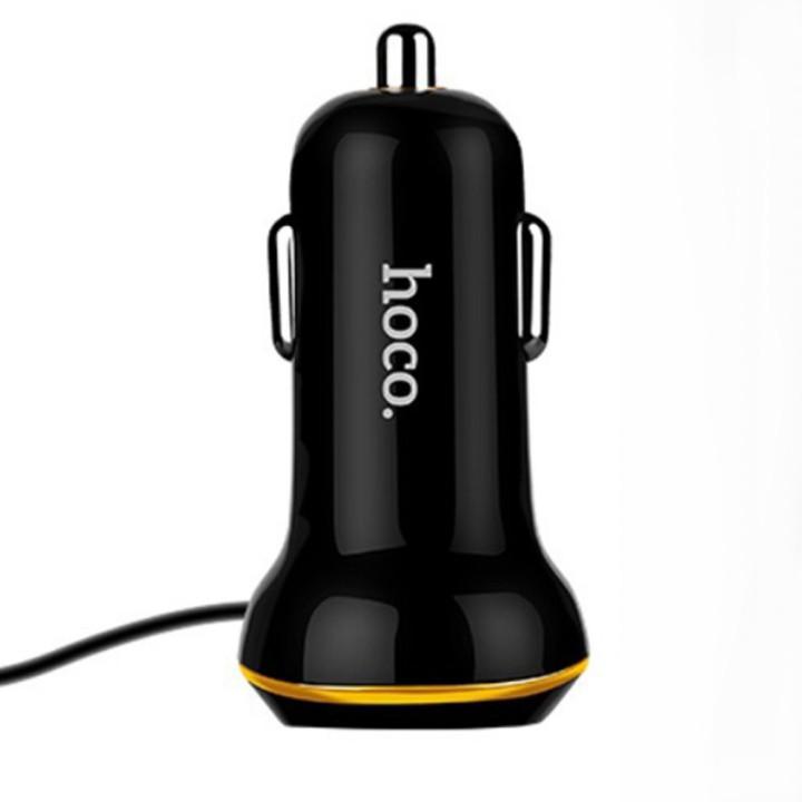 Автомобильное зарядное устройство Hoco Z14 3.4A lightning QC