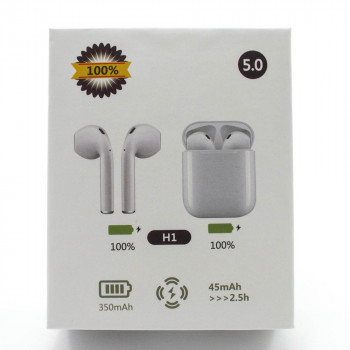 Bluetooth навушники гарнітура AirPods H1 Touch White