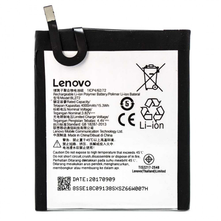 Аккумулятор BL272 для Lenovo K6 Power K33a42, 4000 мAh