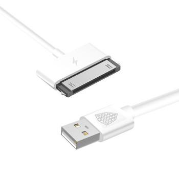 DATA-кабель Inkax CK-13-IP4 30-PIN 1м, White