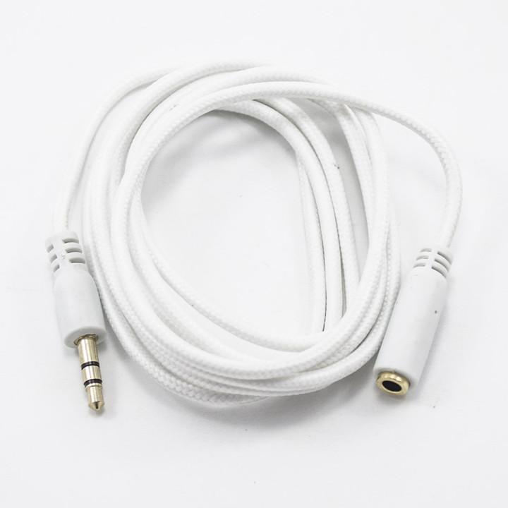 Aux кабель удлинитель 1.5м с тканевой оплеткой White