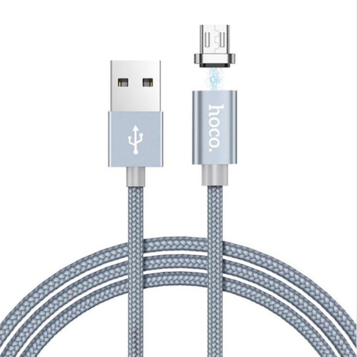 DATA-кабель Hoco Magnetic Charging Cable U40A Micro USB, Black 1м