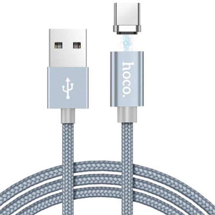 DATA-кабель Hoco Magnetic Charging Cable U40A Type-C , Black 1м
