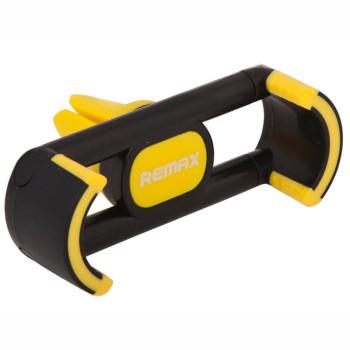 Автомобильный пружинный держатель Remax RM-C17 в дефлектор Black Yellow