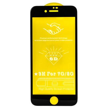 Защитное стекло Full Screen Full Glue 6D Tempered Glass для Apple iPhone 7/8, Black