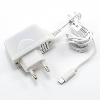 Сетевое зарядное устройство AWM LS-TT010 Lightning 2,1A 1м, White