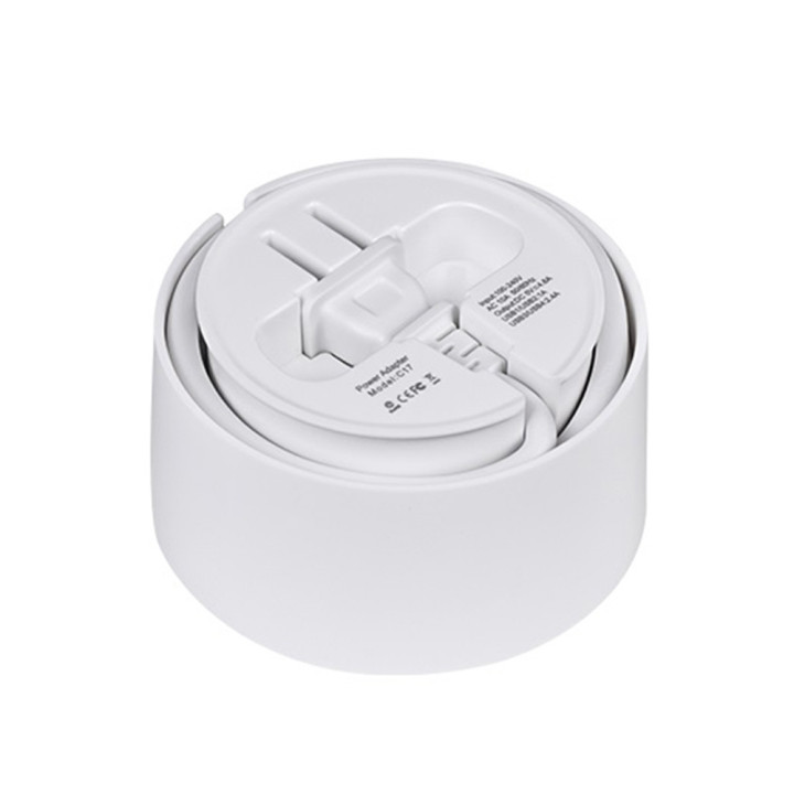 Сетевое зарядное устройство Носо С17 4 USB 4,8A, переходник, сетевой удлинитель 1,5м White