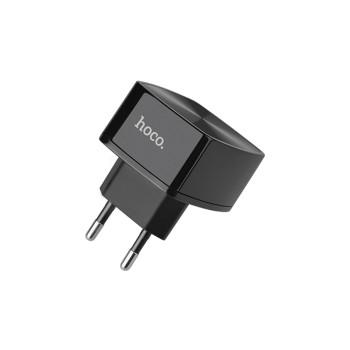 Сетевое зарядное устройство HOCO C26 QC 3.0 USB 3.0A, Black, без кабеля