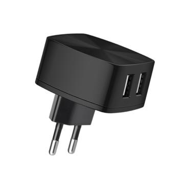 Мережевий зарядний пристрій HOCO C26A 2USB 3.4A, Black, без кабеля