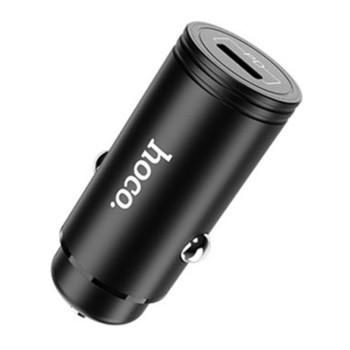 Автомобильное зарядное устройство Hoco Z19 PD QC 3.0 3A Type-C - Lightning 1,2м Black