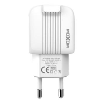Сетевое зарядное устройство Moxom KH-47 2USB 2.4A, без кабеля, White