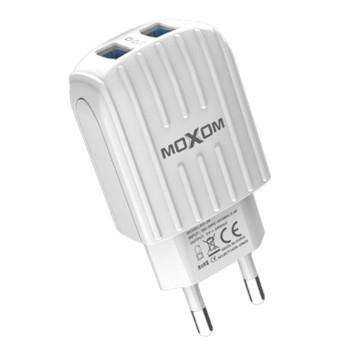Мережевий зарядний пристрій Moxom KH-48 2USB 2.4A micro USB 1 м, White