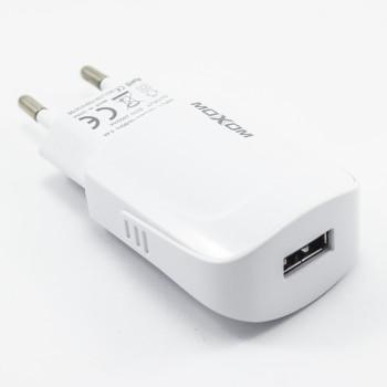 Мережевий зарядний пристрій Moxom KH-49 USB 2.4A lightning 1м, White