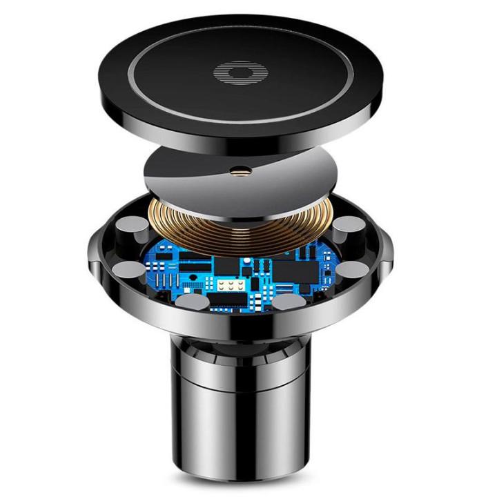 Автомобільний тримач Baseus Wireless Charger Big Ears Car Mount WXER-01 з функцією бездротової зарядки Black