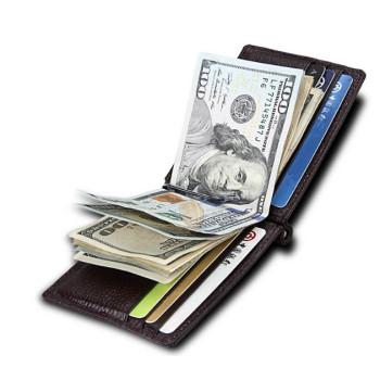 Мужской кошелек RFID с зажимом для купюр