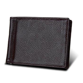 Чоловічий гаманець RFID з зажимом для купюр коричневий