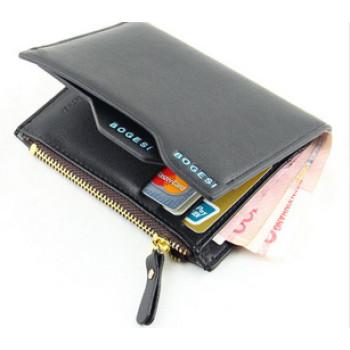 Чоловічий гаманець BOGESI  з замком, чорний