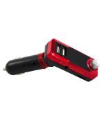 Автомобильный FM-модулятор (трансмиттер) GTM G12, Red-Black