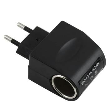 Мережевий адаптер живлення для автомобільних пристроїв AC - DC (220V - 12V) 1A, Black