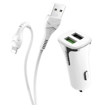 Aвтомобильное зарядное устройство Hoco Z31 QC 3.0 3.4A, 2 USB Type-C