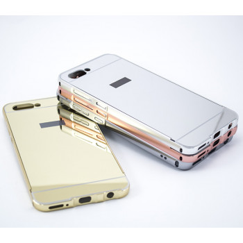 Металлический бампер Epik с акриловой вставкой с зеркальным покрытием для Huawei Honor v10