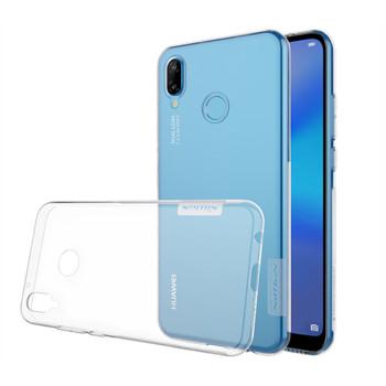 Прозрачный силиконовый чехол Nillkin Nature TPU case для Huawei P20 Lite (clear white)