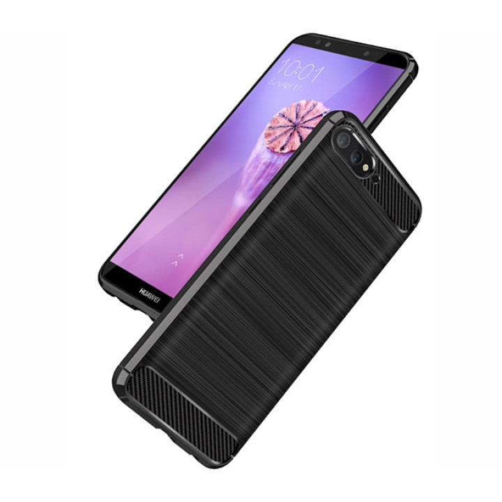 Чехол накладка Polished Carbon для Huawei Y6 2018