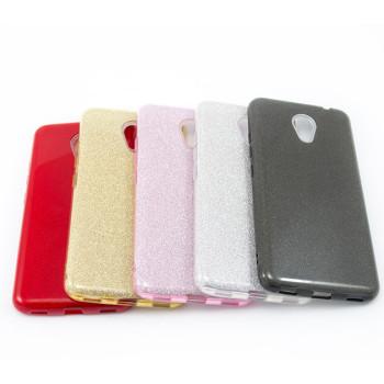 Силиконовый чехол накладка Fashion Case Glitter 3 in 1 для Meizu M5C
