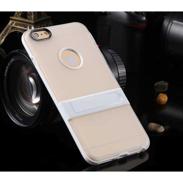 "Cиликоновый чехол c подставкой для iPhone 6 plus (5.5 "") White"