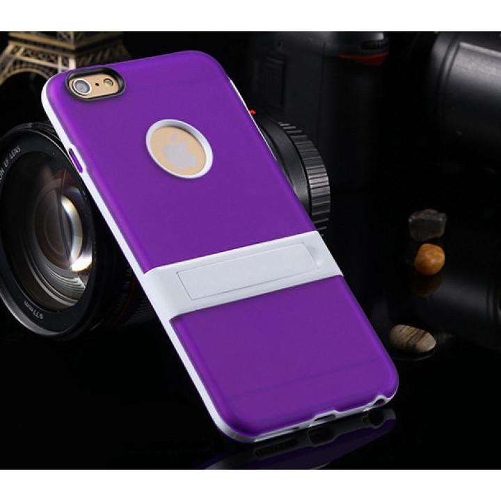 """Cиликоновый чехол c подставкой для iPhone 6 plus (5.5 """") violet"""