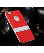 """Cиликоновый чехол c подставкой для iPhone 6 plus (5.5 """") red"""