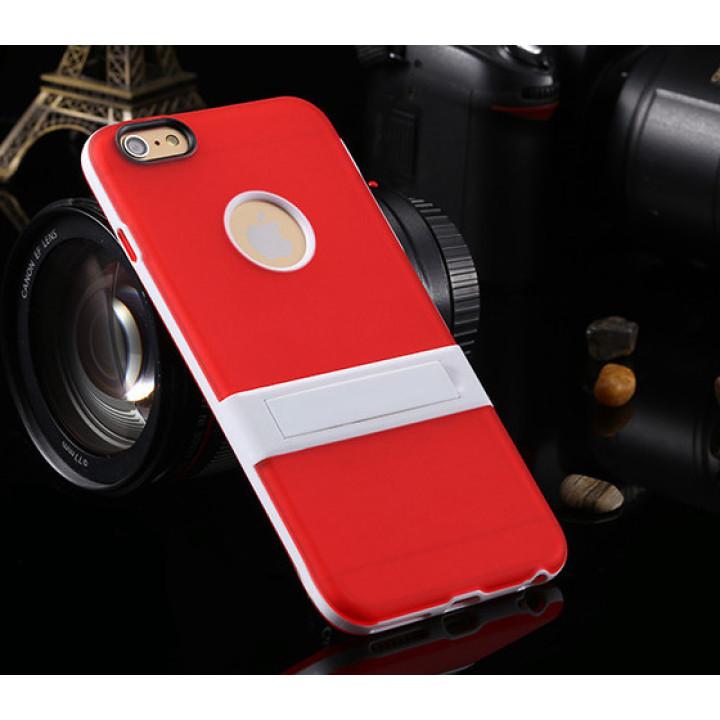 """Силіконовий чохол з підставкою для iPhone 6 plus (5.5"""") red"""