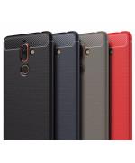 Чехол накладка Polished Carbon для Nokia 7 Plus