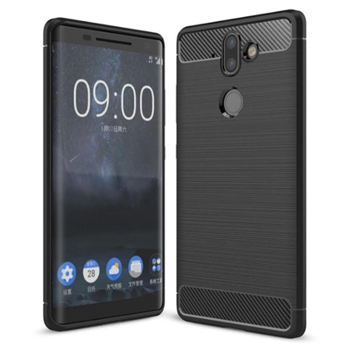 Чехол накладка Polished Carbon для Nokia 8 Sirocco