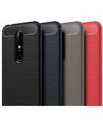 Чехол накладка Polished Carbon для Nokia X6 / Nokia 6.1 Plus