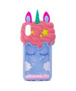 Силиконовый чехол Epik 3D Unicorn Sparkles для Samsung Galaxy A10, Lilac-pink
