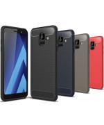 Чехол накладка Polished Carbon для Samsung Galaxy A6 2018