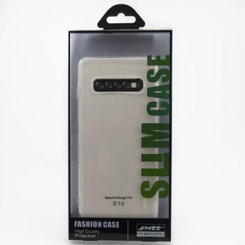 Защитный чехол SMTT Simeitu для Samsung Galaxy S10 (ПРОЗРАЧНЫЙ)