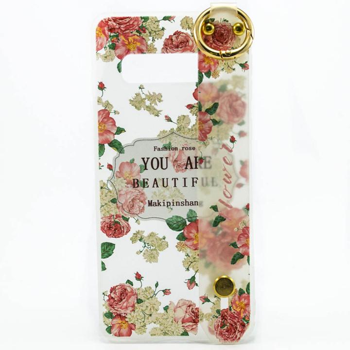 Силиконовый чехол накладка Epik Flowers для Samsung Galaxy S10 Plus