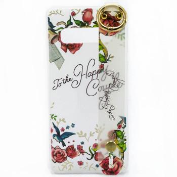 Силиконовый чехол накладка Epik Flowers для Samsung Galaxy S10E
