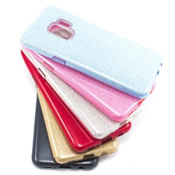 Силиконовый чехол накладка Fashion Case Glitter 3 in 1 для Samsung Galaxy S9