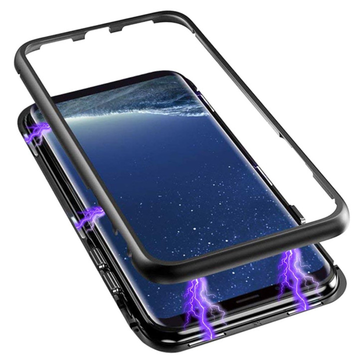 Накладка бампер магніт Metal Frame Samsung S8 Plus, black